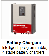 Itelligent, programmable, professional battery chargers